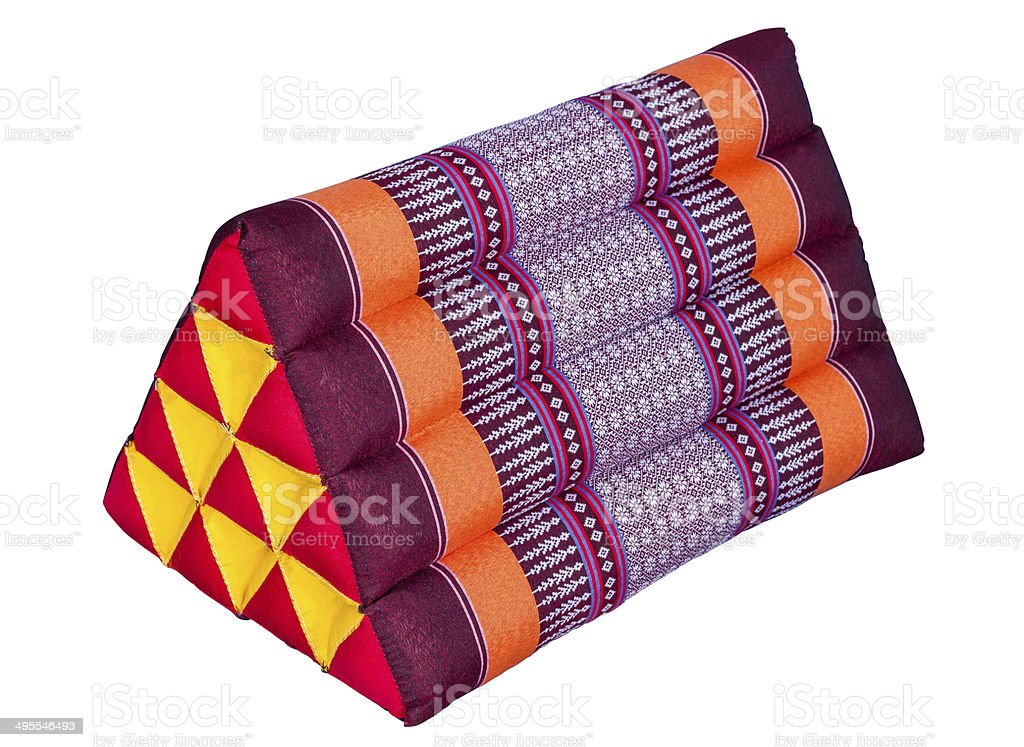 Triangle pillow thai classic on isolated royalty-free stock photo