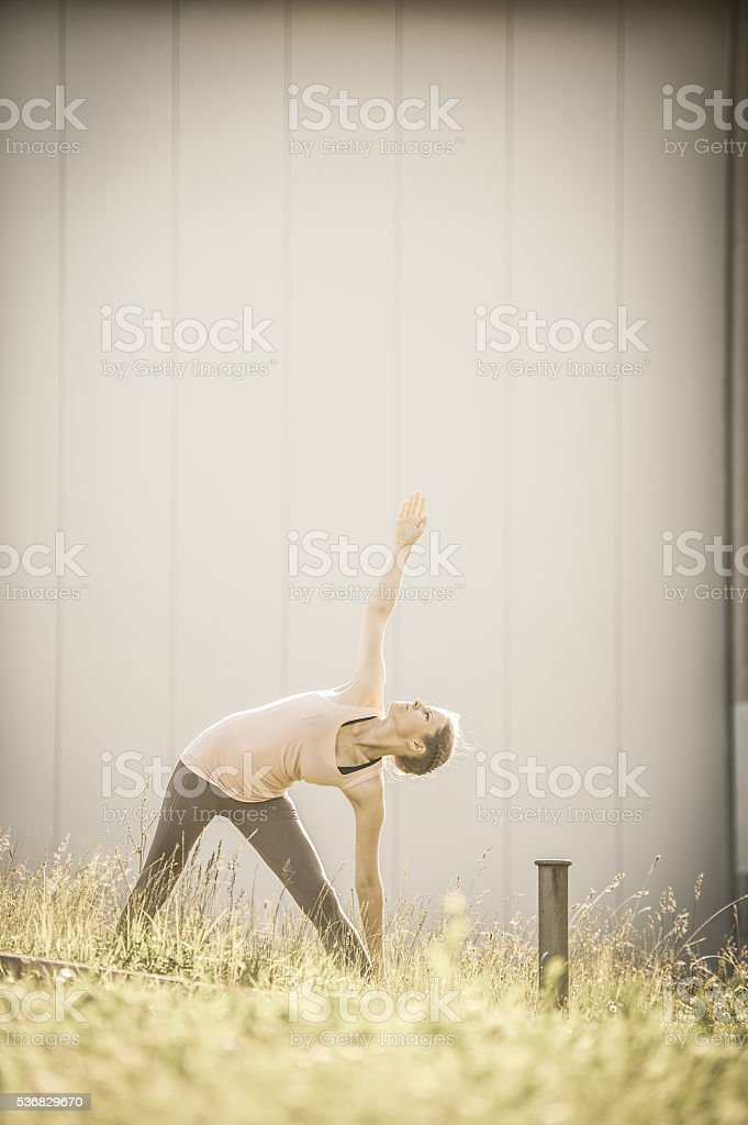 Triangle Pose stock photo