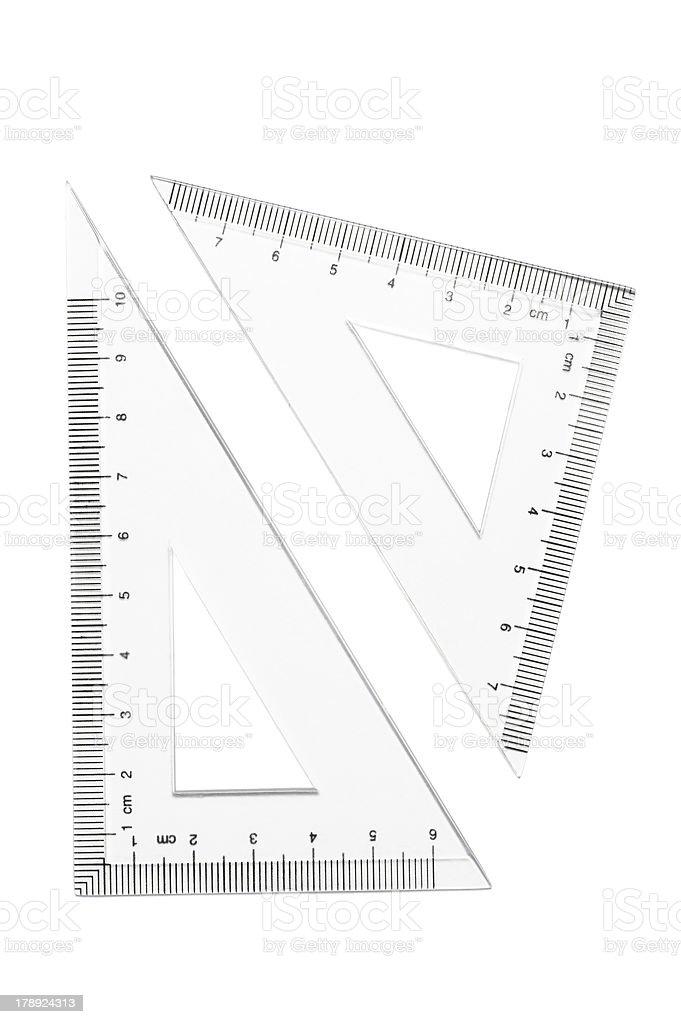 Triangle Rulers stock photo