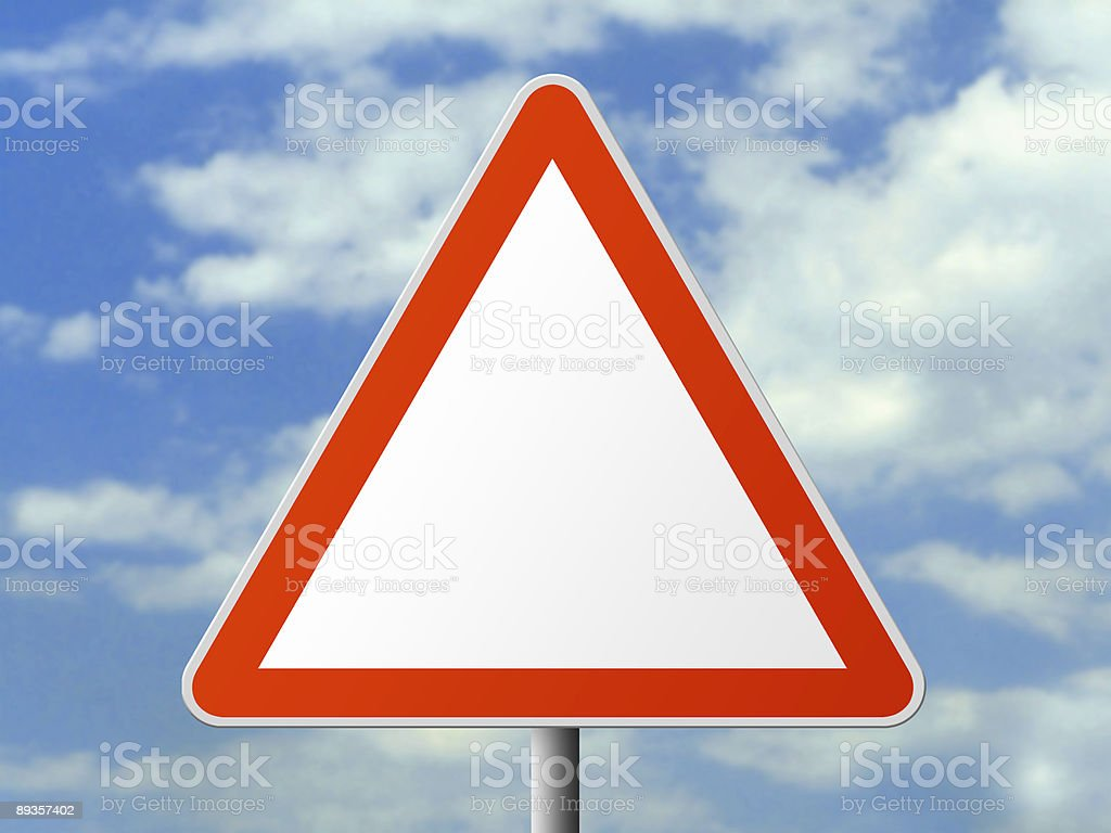 Triangle sign (clear) royalty-free stock photo