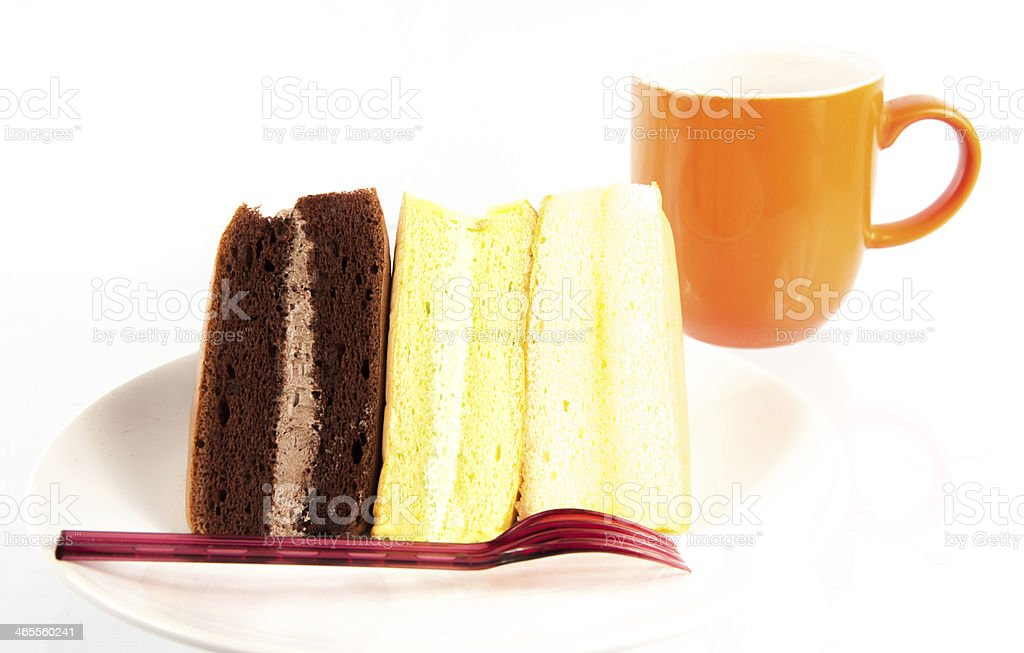 triangle sponge cake royalty-free stock photo