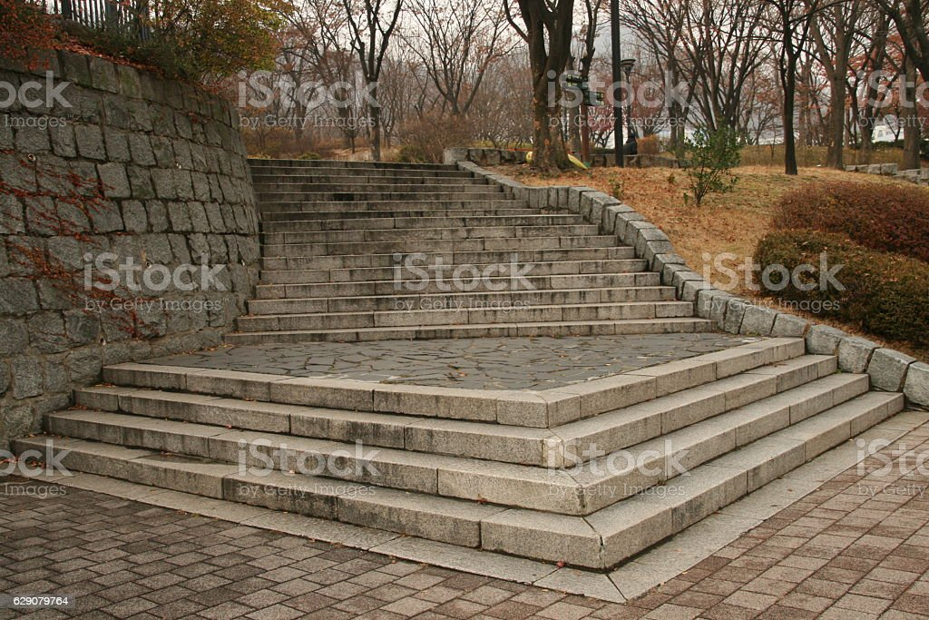 triangle stairs stock photo