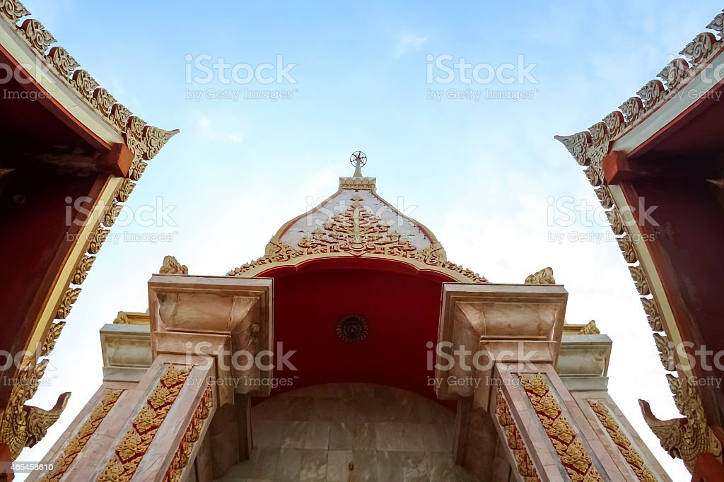 Triangle temple roof royalty-free stock photo