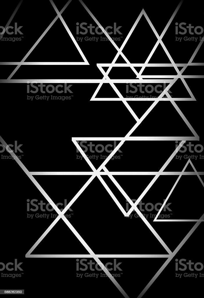 triangle wall stock photo