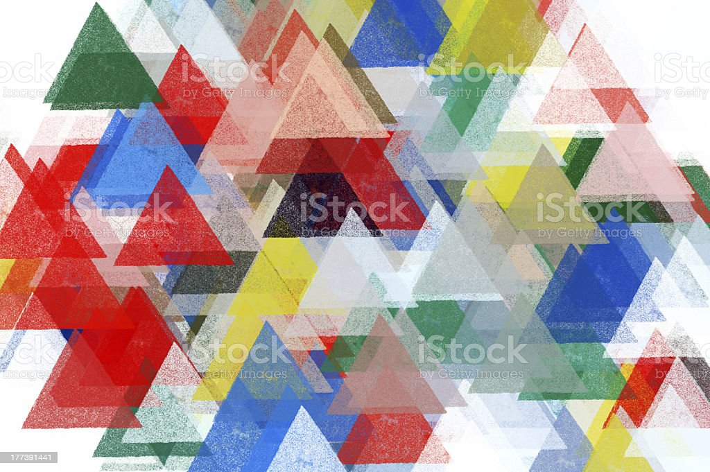 triangles pattern illustration stock photo