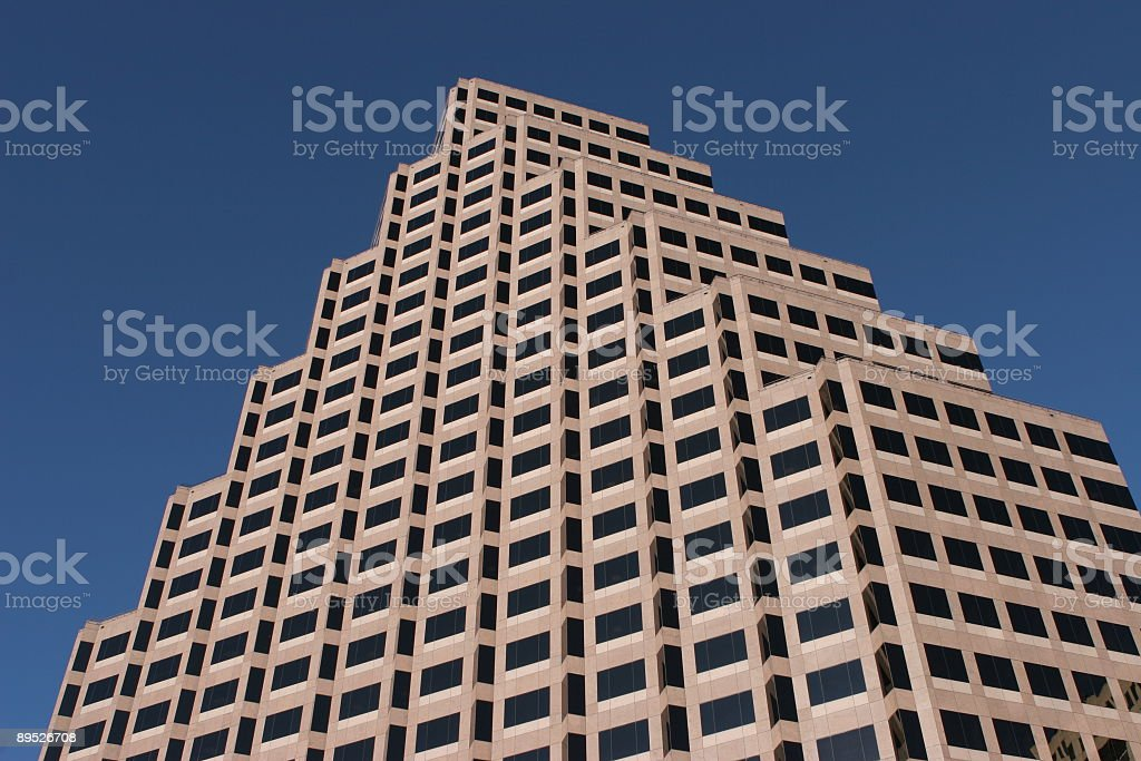 Triangular building and blue sky royalty-free stock photo