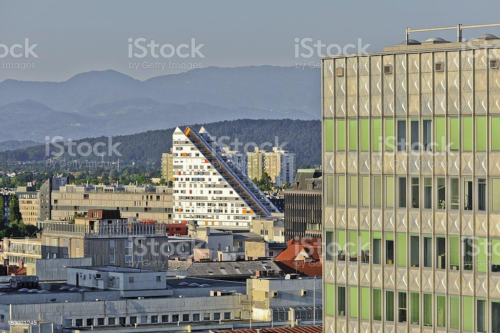 Triangular building royalty-free stock photo