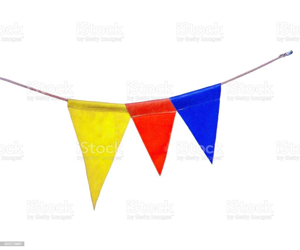triangular flags stock photo