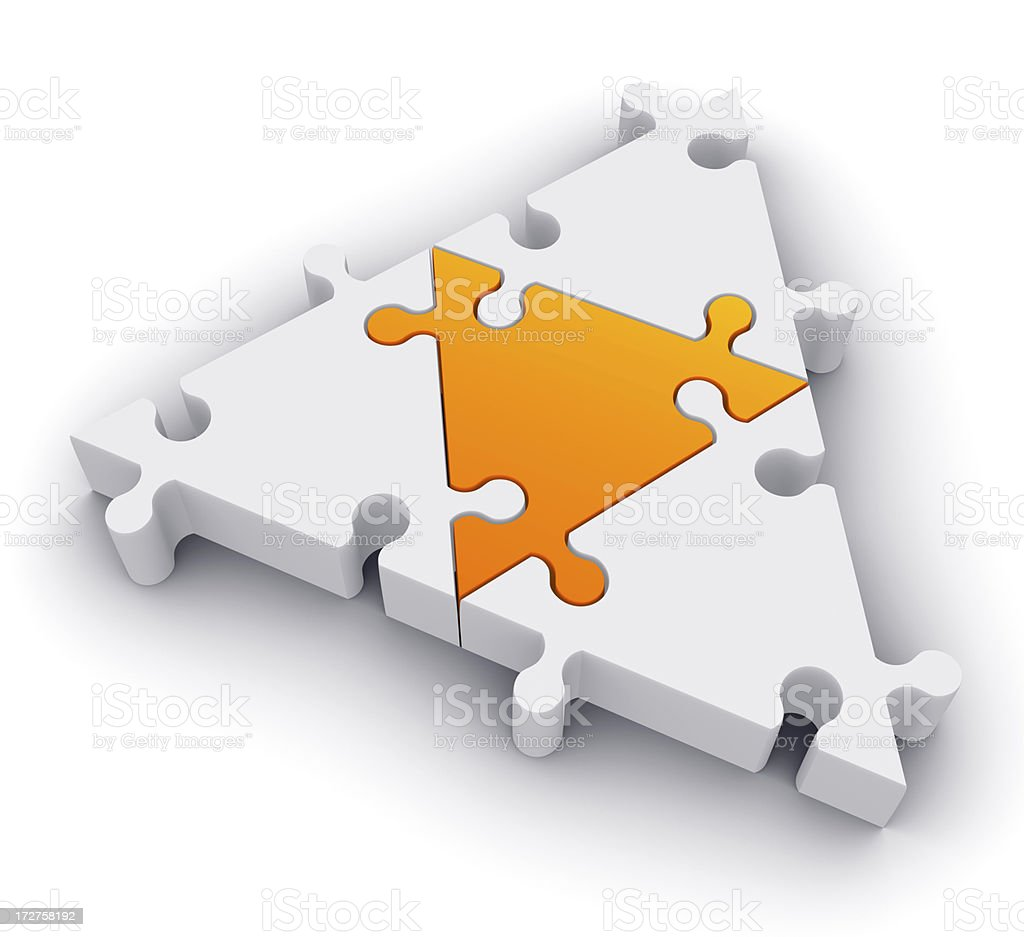 Triangular jigsaw royalty-free stock photo