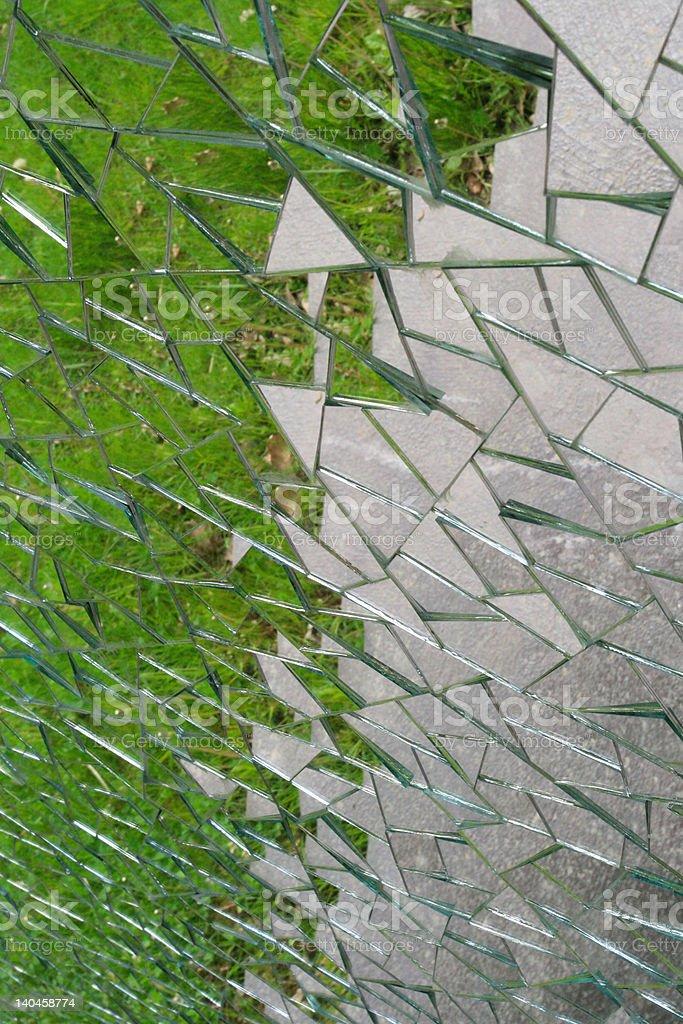Triangular mosaic royalty-free stock photo