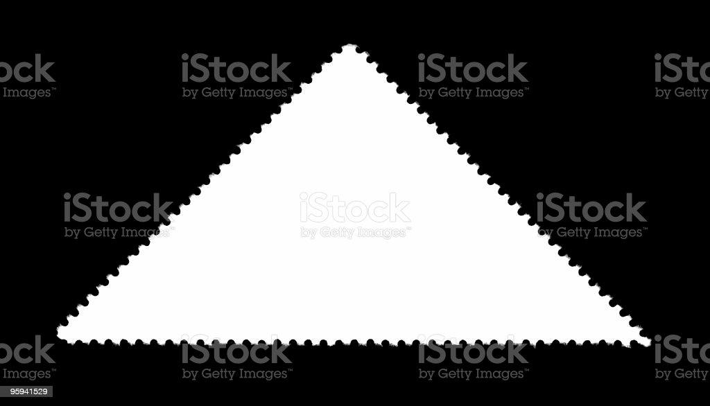 triangular plain stamp stock photo