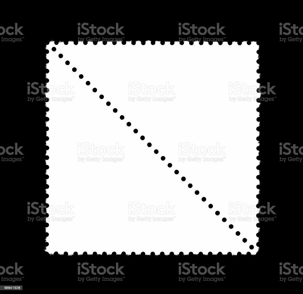 triangular plain stamps stock photo