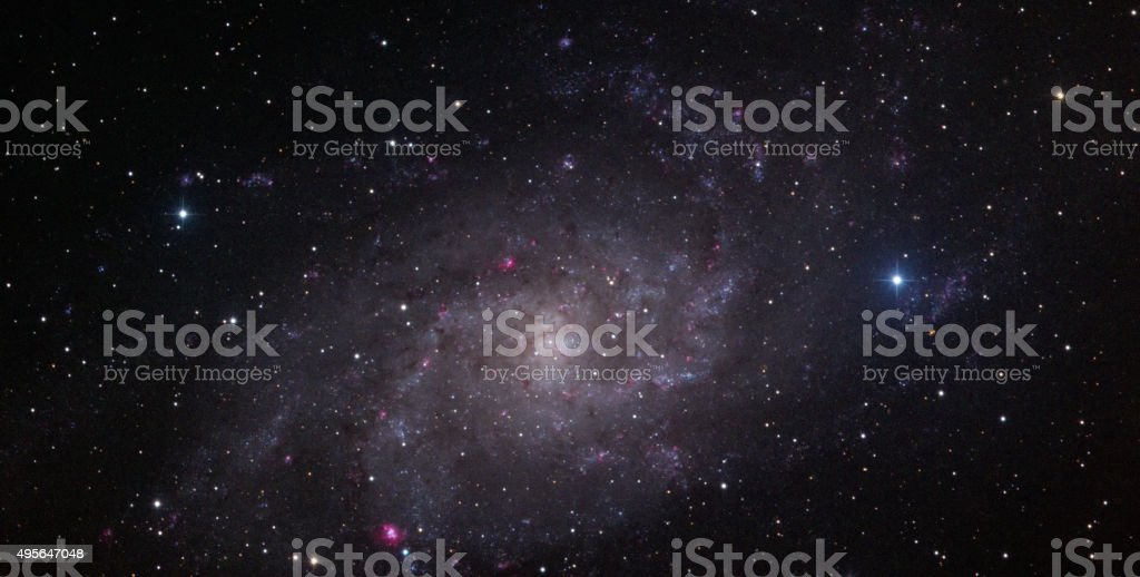Triangulum Galaxy (M33) stock photo