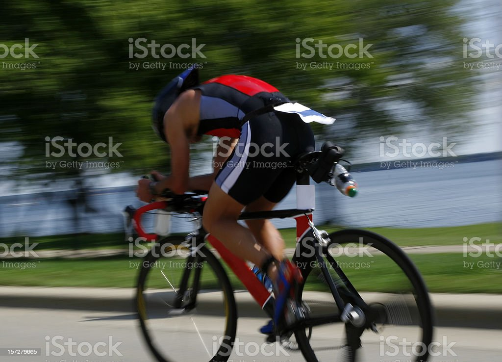 Triathelte stock photo
