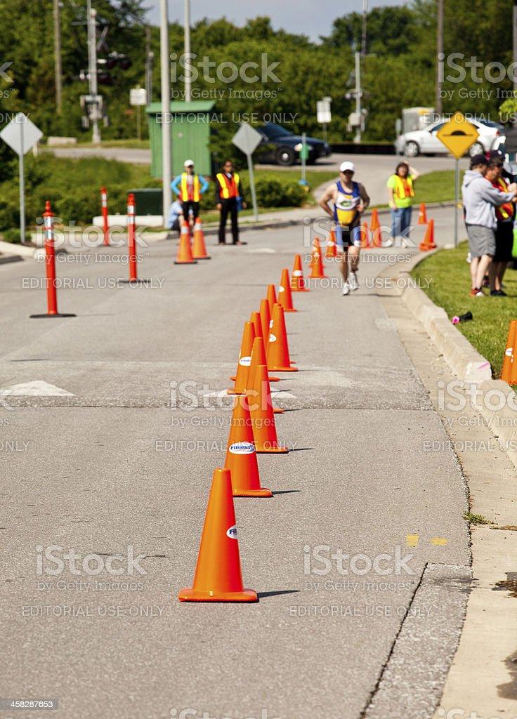 Triathlete Running stock photo