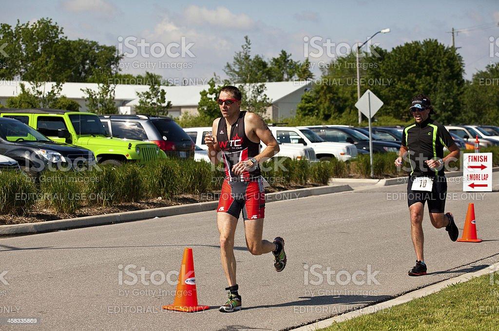 Triathlete Running royalty-free stock photo