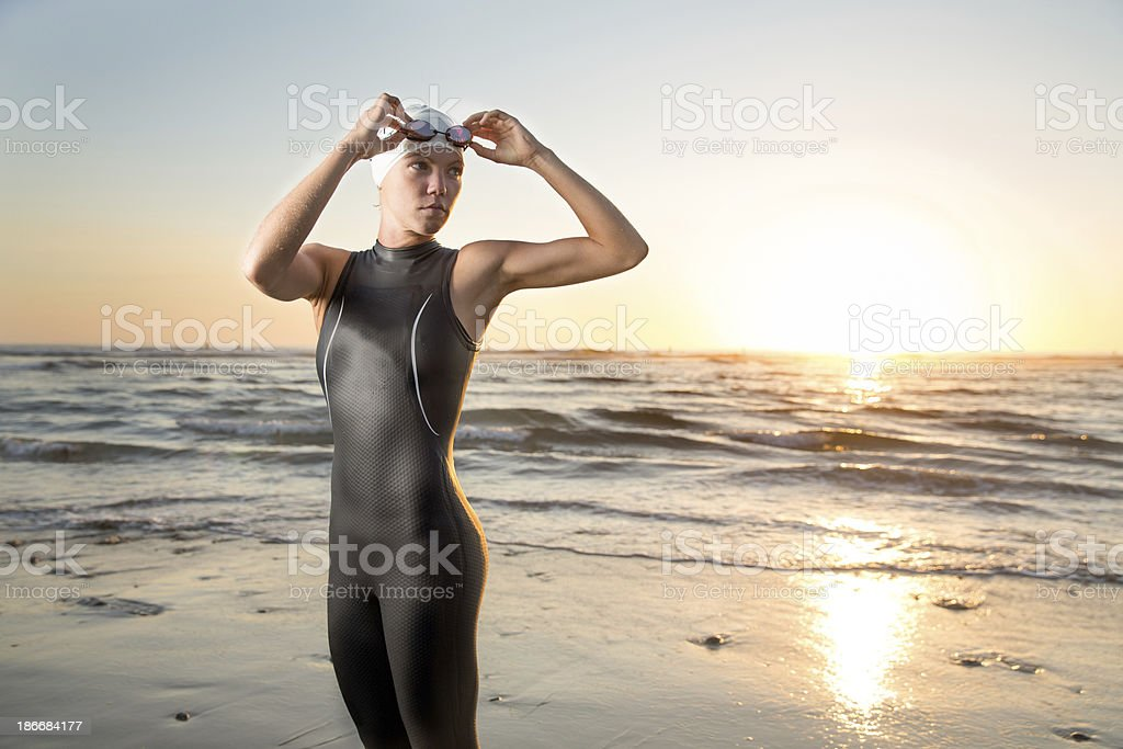 Triathlon Athlete stock photo
