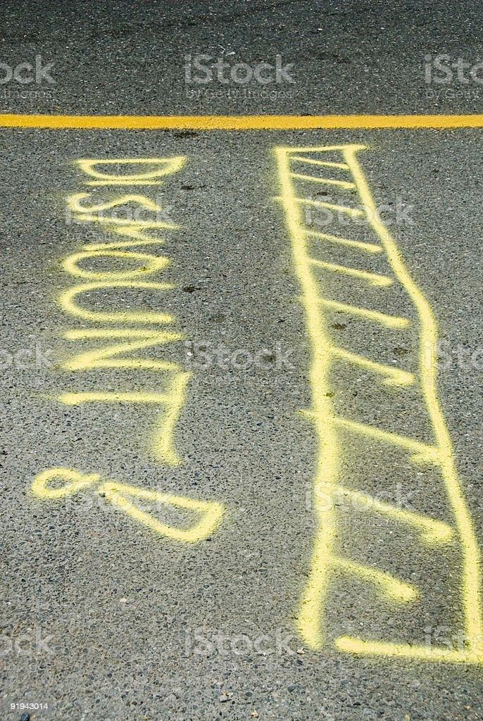 Triathlon Dismount Sign royalty-free stock photo