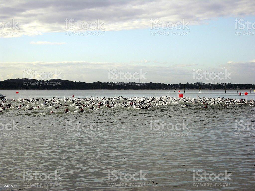 Triathlon Start royalty-free stock photo