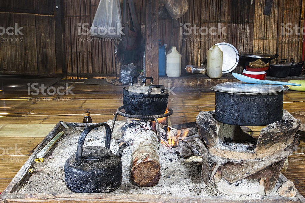 Tribal Chefs in the Kitchen royalty-free stock photo