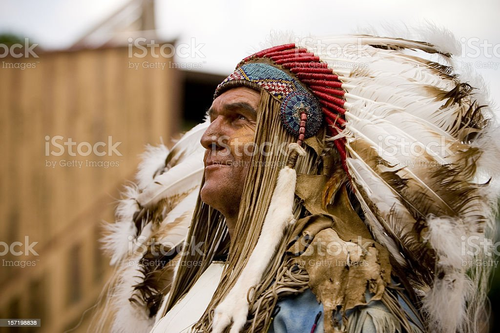 Tribal Chief stock photo