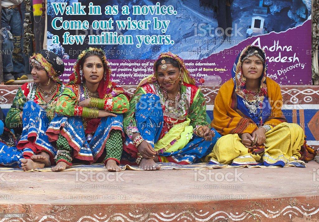 Tribal Dance Group stock photo