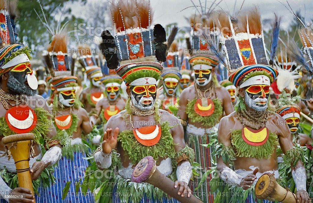 Tribal dance stock photo