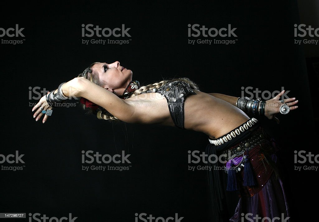 tribal dancer royalty-free stock photo
