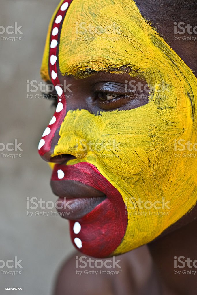 Tribal face royalty-free stock photo