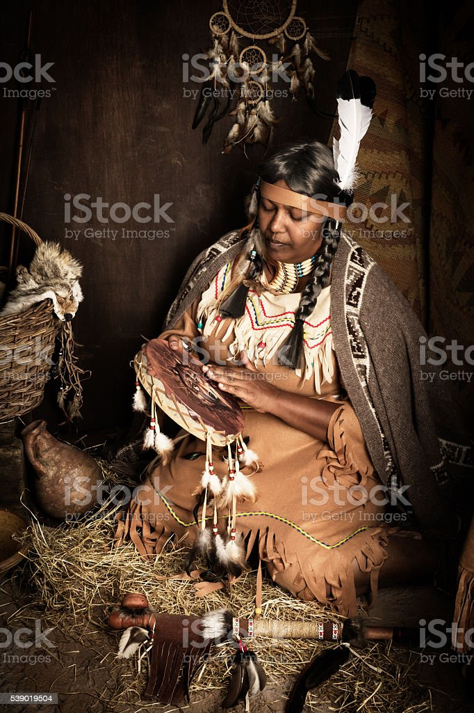 Tribal music stock photo