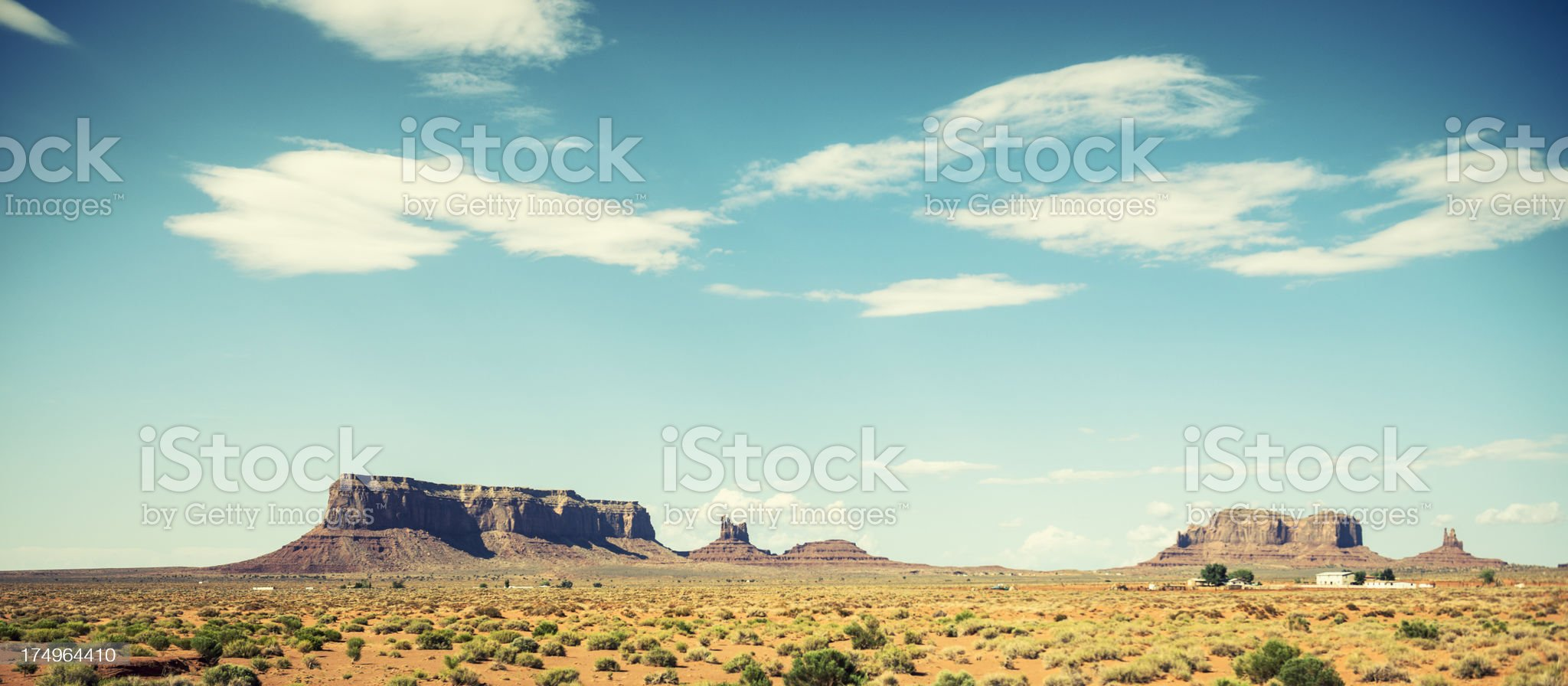 Tribal navajo village on Monument valley National park royalty-free stock photo
