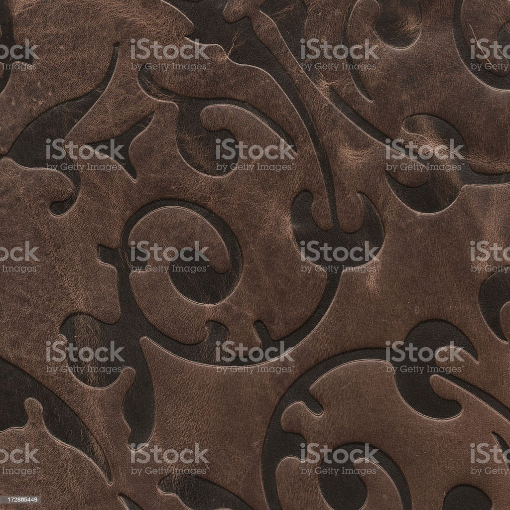 tribal pattern on leather royalty-free stock photo