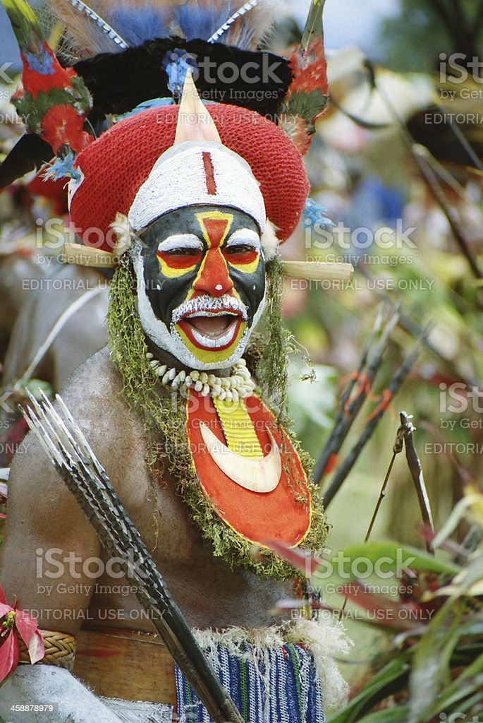 Tribal warrior dances royalty-free stock photo
