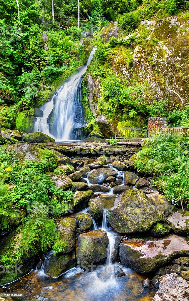 Triberg Falls, one of the highest waterfalls in Germany stock photo