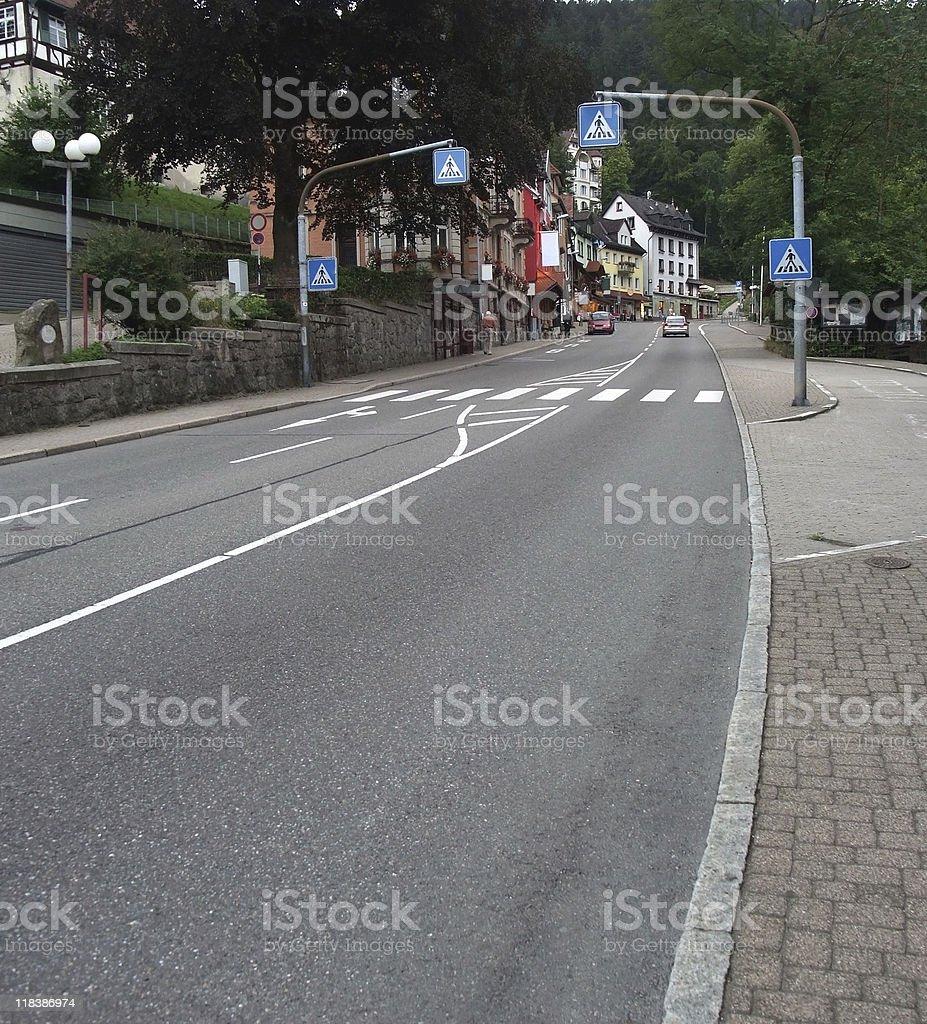 Triberg street scenery royalty-free stock photo