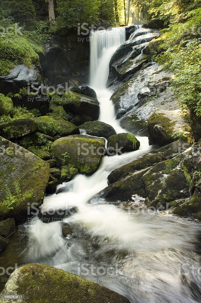 Triberg Waterfall in Black Forest, Germany stock photo