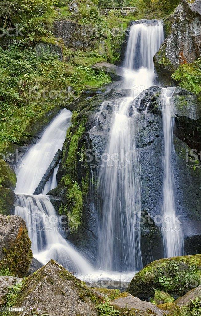 Triberg Waterfalls at summer time royalty-free stock photo
