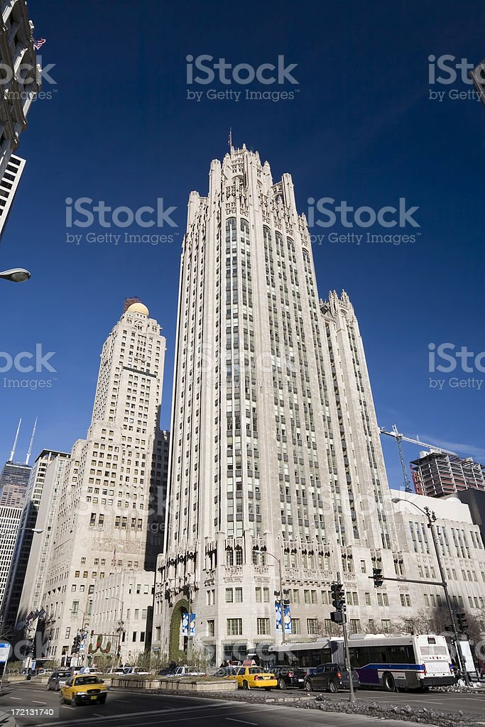 Tribume Tower on Michigan Avenue, Chicago royalty-free stock photo