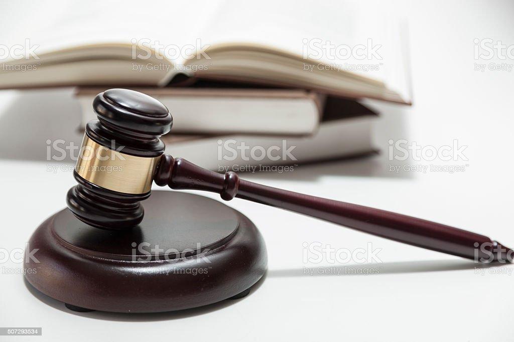 Tribunal judge hammer stock photo