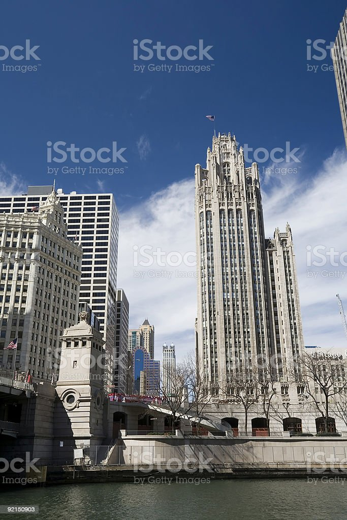 Tribune Building, Downtown Chicago royalty-free stock photo