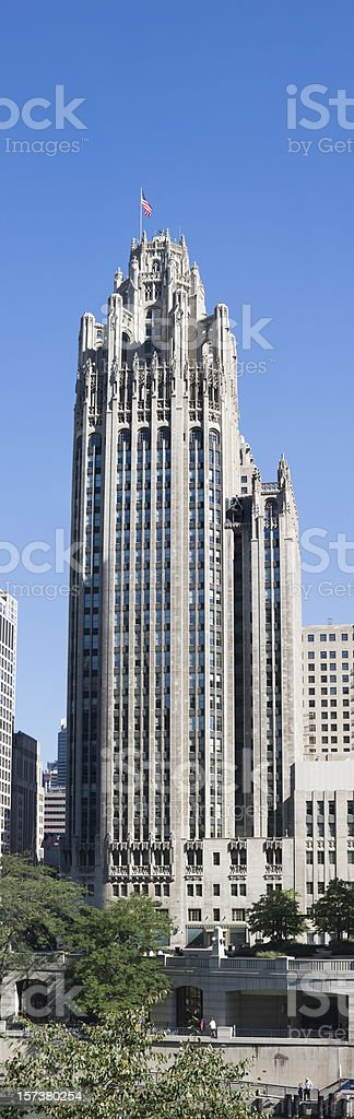 Tribune Tower downtown Chicago royalty-free stock photo