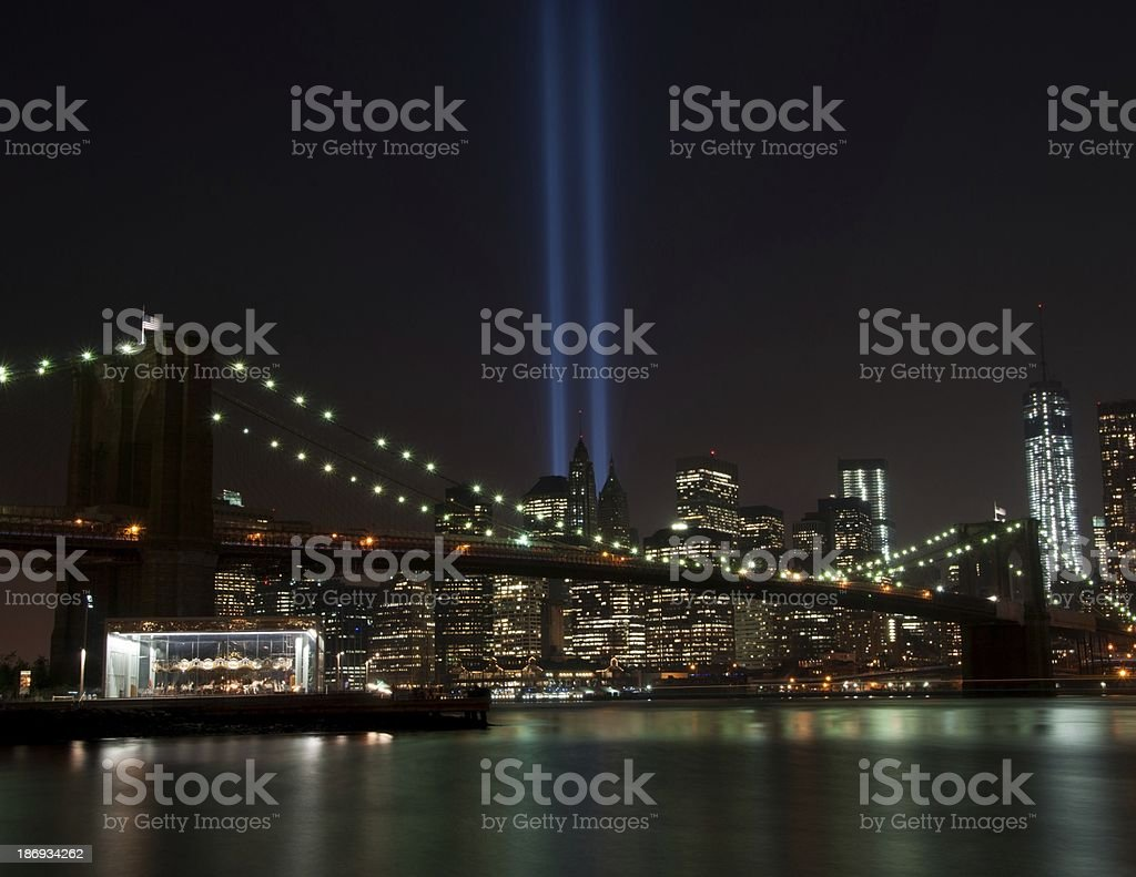 Tribute in Light 2013 stock photo