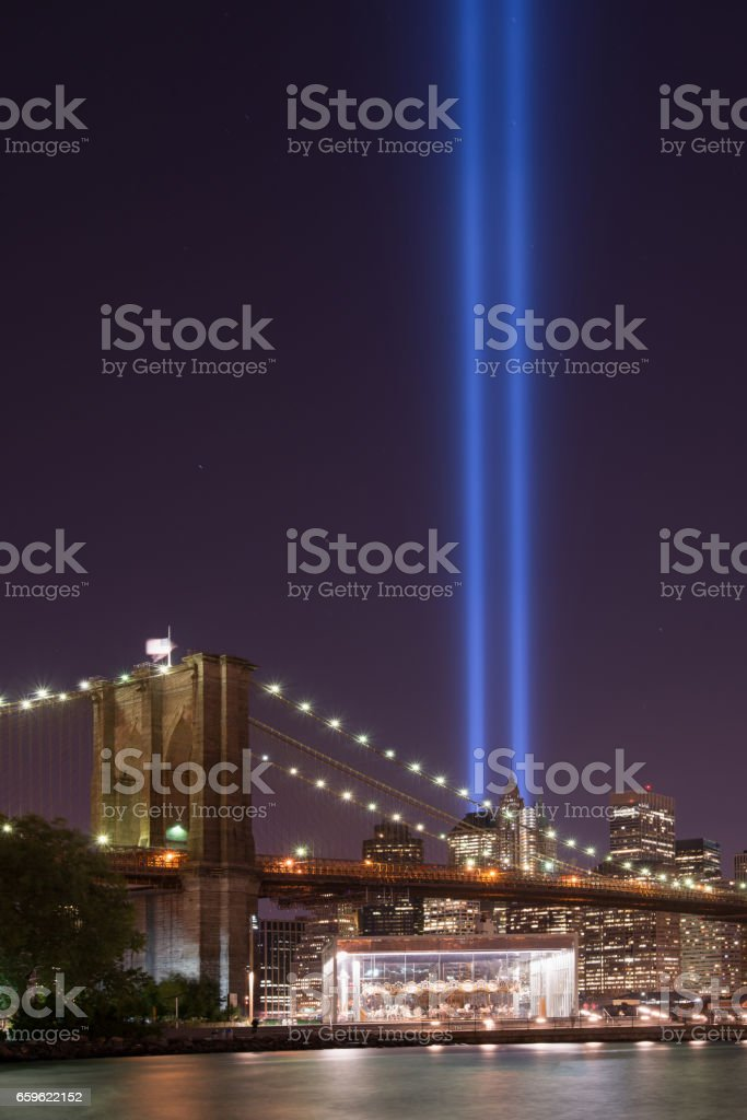 Tribute In Light From Brooklyn stock photo