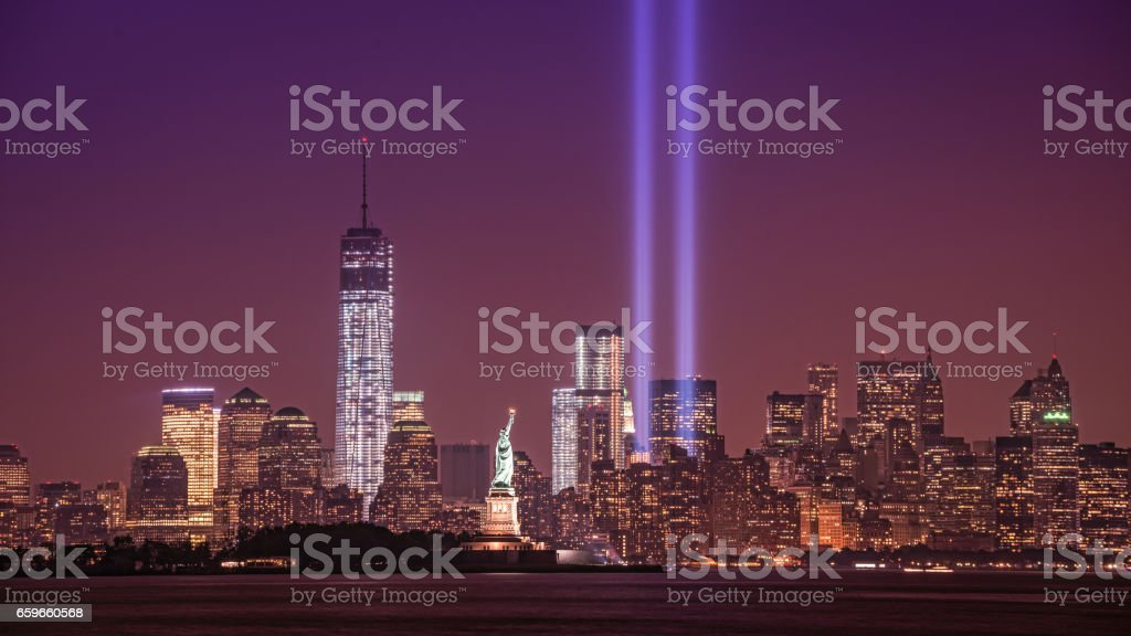 Tribute in Light from New Jersey stock photo