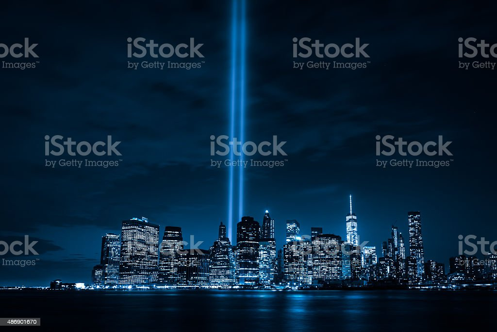 Tribute in Light stock photo