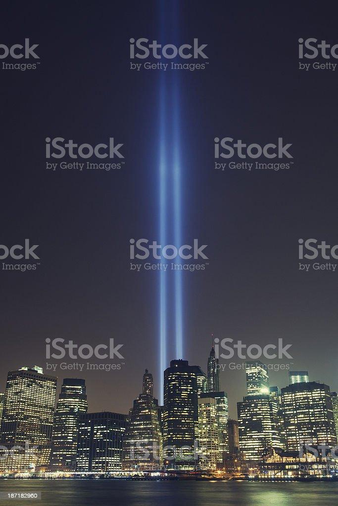 Tribute in Light September 11 Memorial New York City stock photo