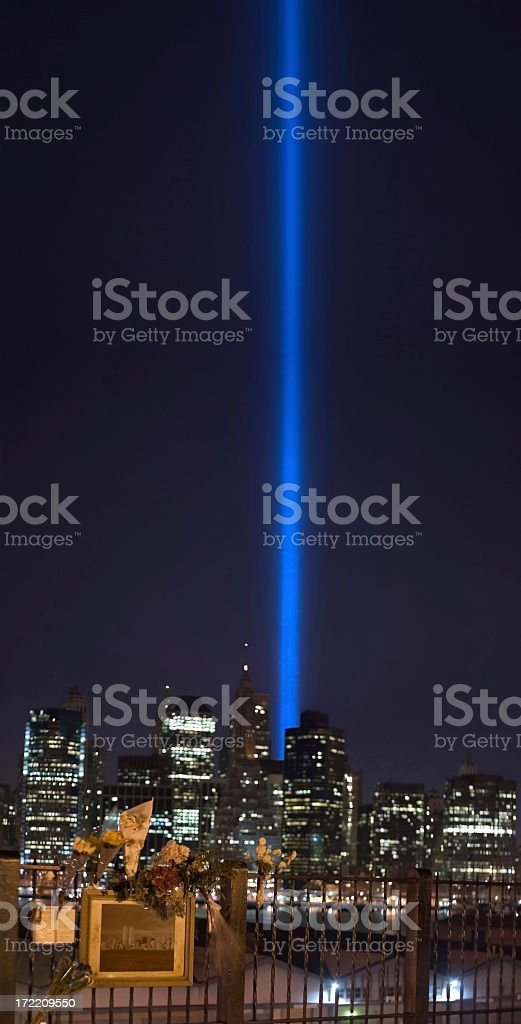 Tribute in Lights royalty-free stock photo