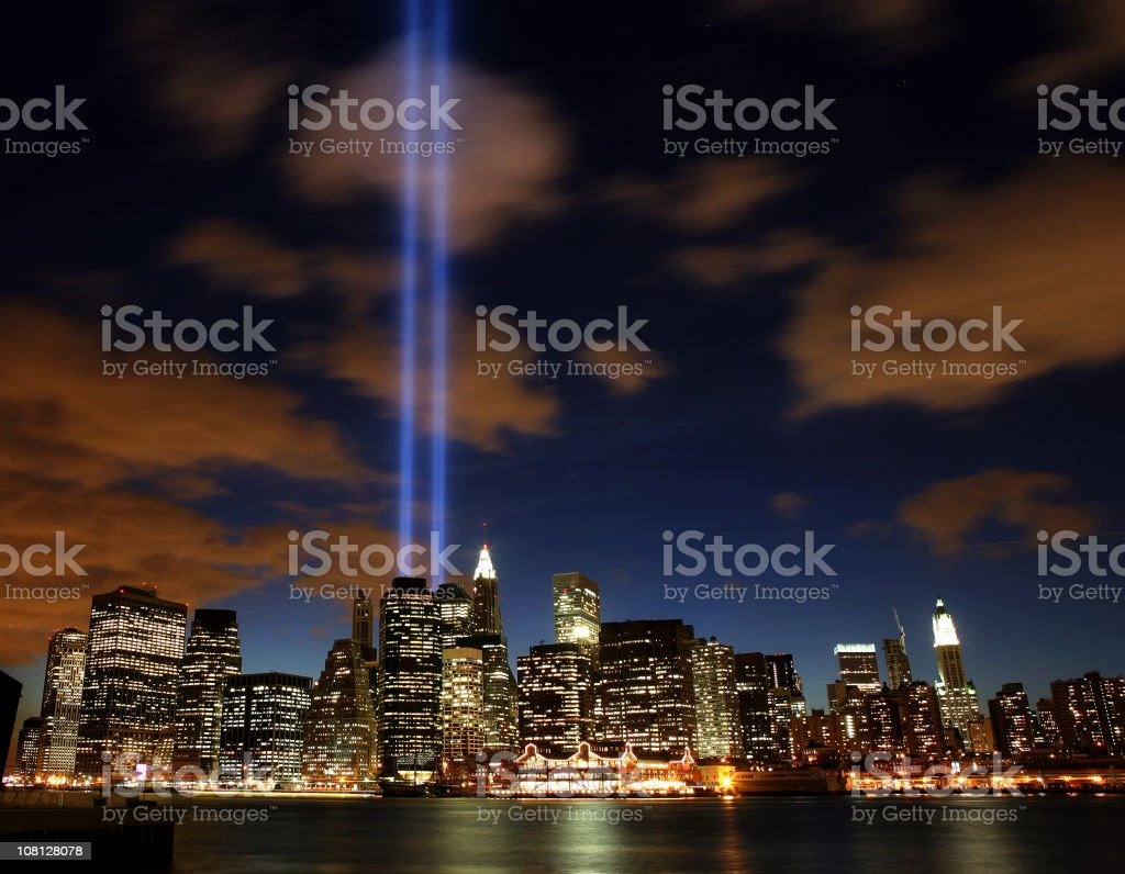 tribute lights royalty-free stock photo