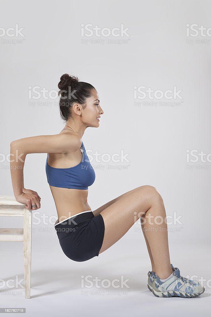 Tricep exercising - phase 2 stock photo