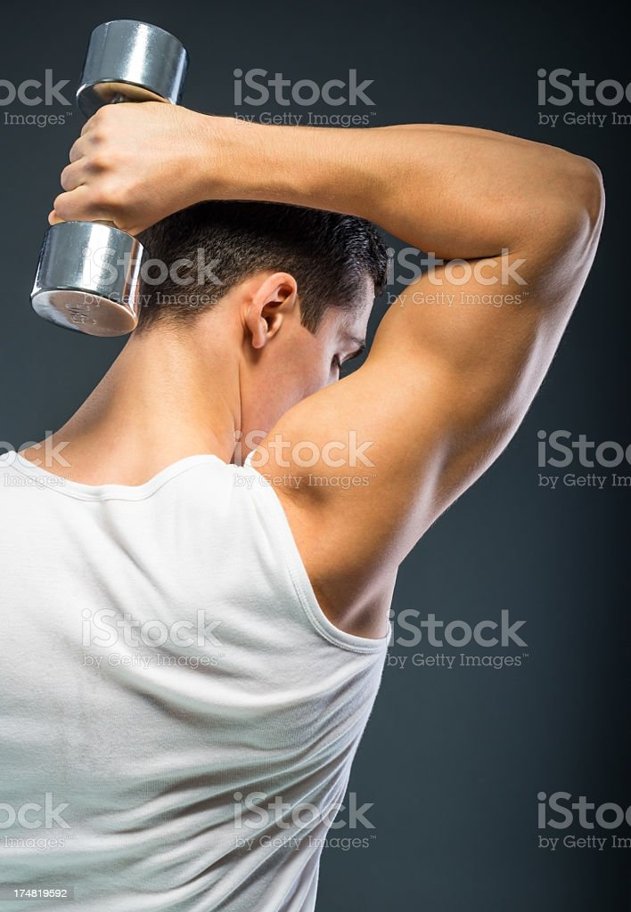 Triceps exercise royalty-free stock photo